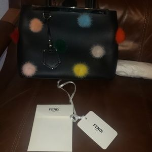 Fendi 2Jours Petite Multi Color Mink & Leather Bag